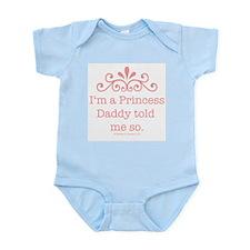 Pink Daddy's Princess Onesie Bodysuit Creeper