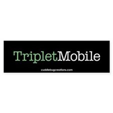 Triplet Mobile (G)- Bumper Car Sticker