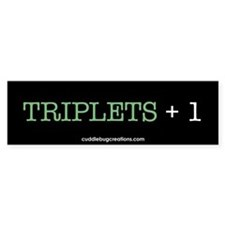 Triplets Plus One - Bumper Car Sticker