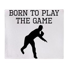 Born To Play The Game Throw Blanket