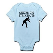 Chicks Dig Strikeouts Body Suit