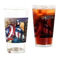 Avengers Super Soldier Captain Amer Drinking Glass