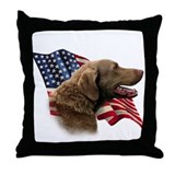 Chessie Flag Throw Pillow