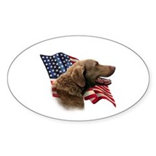 Chessie Flag Oval Decal