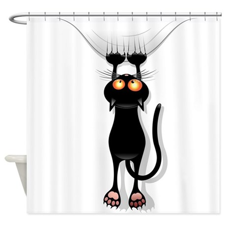 Funny Cat Shower Curtain