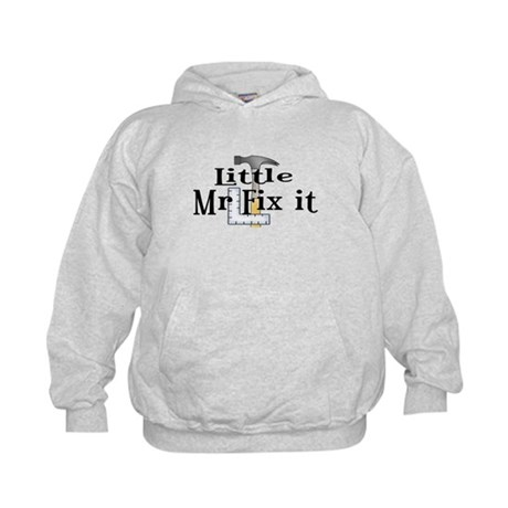 Little Mr Fix It Kids Hoodie