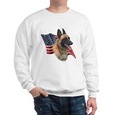 Malinois Flag Sweatshirt
