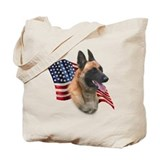 Malinois Flag Tote Bag
