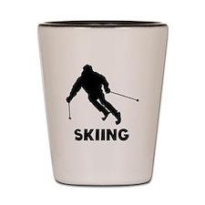 Skiing Shot Glass
