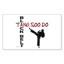 Tang Soo Do Black Belt 2 Rectangle Decal