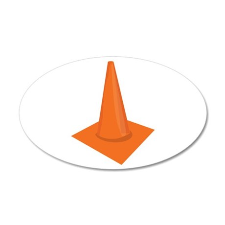 Traffic Cone Wall Decal