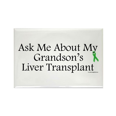 Ask Me Grandson Liver Rectangle Magnet