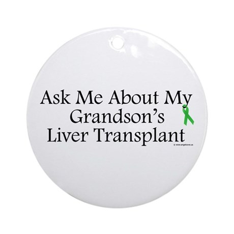 Ask Me Grandson Liver Ornament (Round)