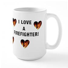I Love A Firefighter Mug