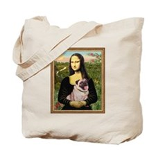 Mona Lisa (new) & Pug Tote Bag