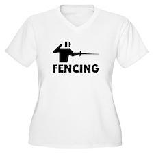 Fencing Plus Size T-Shirt