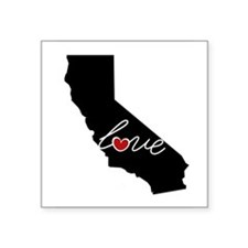 "California Love Square Sticker 3"" x 3"""