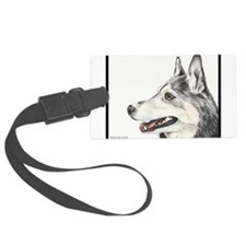 Neiko the well-mannered winter husky Luggage Tag