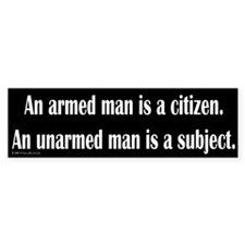 Armed Man Bumper Bumper Sticker