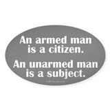 Armed Man Oval Decal