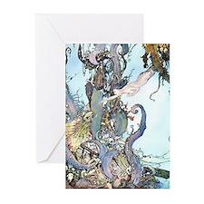 Dulac Mermaid Treasure Greeting Cards