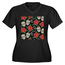 Skulls and Roses Plus Size T-Shirt