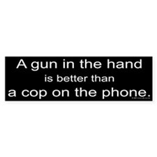 Gun in Hand Bumper Bumper Sticker