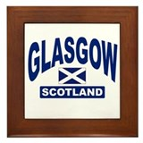 Glasgow Scotland Framed Tile