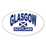 Glasgow Scotland Oval Decal