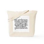 Life Art WORDS Tote Bag