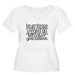 Words Women's Plus Size Scoop Neck T-Shirt