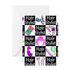 FOXY HAIR STYLIST Greeting Card