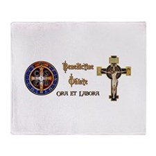 Benedictine Oblate Throw Blanket