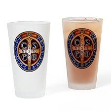 Benedictine Medal Drinking Glass