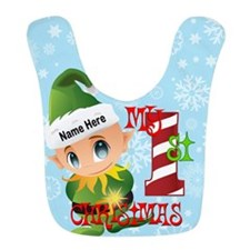 Baby Elf 1st Christmas Custom Bib