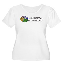 Christians for Chris Dodd Women's Plus Size Scoop