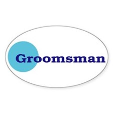 Groomsmen Oval Decal