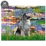 Lilies (#2) - Keeshond (mp).png Puzzle