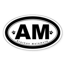 Alaskan Malamute Oval Decal