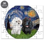 Starry-Two Poodles (Min) Puzzle