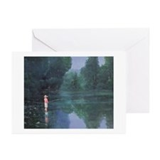 Child Fishing, 1989 - Greeting Cards (Pk of 20)