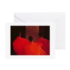 Four Monks (oil on can - Greeting Cards (Pk of 20)