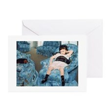 Little Girl in a Blue - Greeting Cards (Pk of 20)
