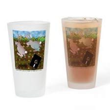 Rabbit Cartoon 8724 Drinking Glass