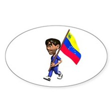 Venezuela Boy Oval Decal