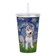 Starry-Siberian pup Acrylic Double-wall Tumbler