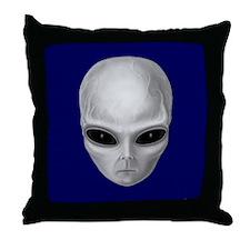Alien Stare Throw Pillow