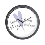 I Need Care/ Give A Lot of Love Wall Clock