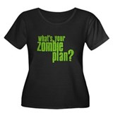 Zombie Plan Women's Plus Size Scoop Neck Dark T-Sh