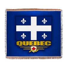 Quebec Flag Woven Blanket